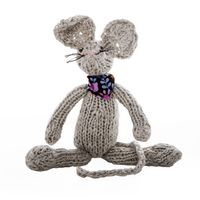 knitted mouse Kids Toys, Christmas Ornaments, Holiday Decor, Handmade, Childhood Toys, Xmas Ornaments, Hand Made, Children Toys, Christmas Jewelry