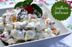 Mommy's Kitchen: Ambrosia {A Southern Staple} A must have recipe on every southern holiday table.