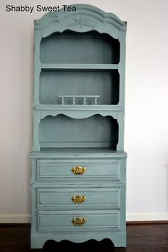 Shabby Sweet Tea: Duck Egg Blue Hutch