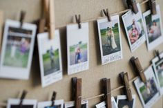 polaroid guestbook photo display | Handmade Vintage Wedding |  Kaylan Buteyn Photography on Oh Lovely Day