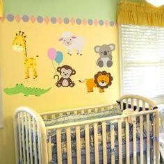 Nursery Zoo Animal Wall Decal Set