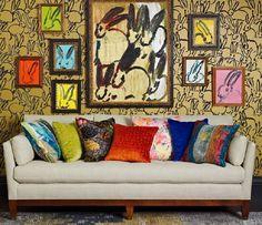 Летние интерьеры существенно расцветят ткани из коллекции HUNT SLONEM FOR GROUNDWORKS, дизайн которых разработан американским художником Хантом Слонемом (HUNT SLONEM) по его зарисовкам с натуры птиц, бабочек, цветов и животных. #lee_jofa