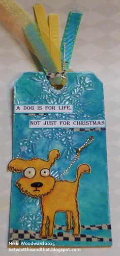 Made for a Christmas tag trade. Image by Vera Lane Studios
