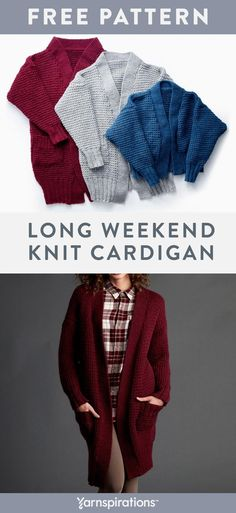 d64c128208461 Cozy Knit Cardigan In Three Different Lengths | Stay toasty all winter long  in this classic