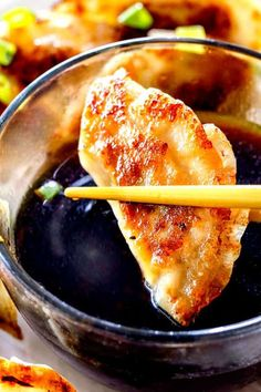 These homemade potstickers are easier than you might think and taste better than your favorite restaurant! The filling is customizable and the potstickers freeze beautifully, for instant lunches or dinners. Desserts For A Crowd, Food For A Crowd, Dessert Recipes, Appetizer Recipes, Creative Desserts, Pie Recipes, Delicious Recipes, Easy Recipes, Dinner Recipes