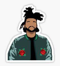 Weeknd Roses Pegatina