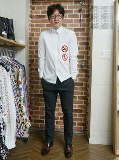 여친이 좋아하는 셔츠^^ 담배금지,여자금지ㅋㅋ 남자셔츠,남친셔츠,남성패션,패션셔츠 www.designernam.com