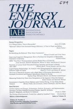 Energy Journal Cleveland (Ohio) : International Association for Energy Economics , 1980-