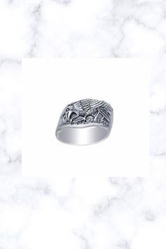 Ted Andrews artistic design Raven Ravens Sterling Silver Ring