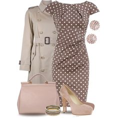 Burberry Trench Coat & Polka Dots - Polyvore