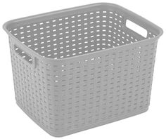 Amazon.com - Sterilite 12736A06 Tall Weave Basket, Cement, (Pack of 6) -