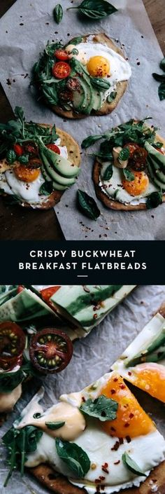 Crispy Buckwheat Breakfast Flatbreads  |  Gather & Feast