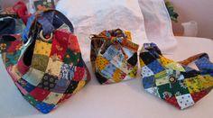 Quiltsmart Midi Bag with two Quiltsmart Bitty Bags #qultsmart #midibag #mediumtote #totebag #handbag #sewing #quilting #diy #handmade
