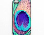 """Peacock Iphone Case. Peacock Feather. Iphone 4 case. 4s Case. Purple. Blue. Pink. Mint.  Peacock. Girly. Chic. glam. """"Pretty Peacock""""."""