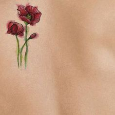 small poppy tattoo - Google Search
