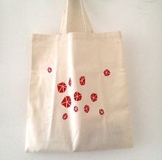Geometric Set Hand Painted Tote and Hand Bound by mipluseddesign