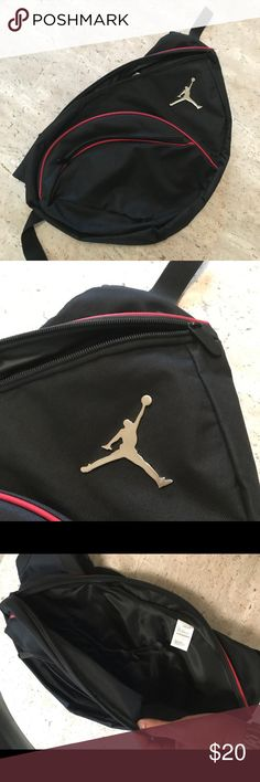 Jordan Backpack Black Jordan backpack in great condition! It has a few  scratches on the b5290c947ad62