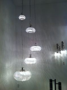 nice chandelier @ euroluce... christals that would do great with led instead of halogen....