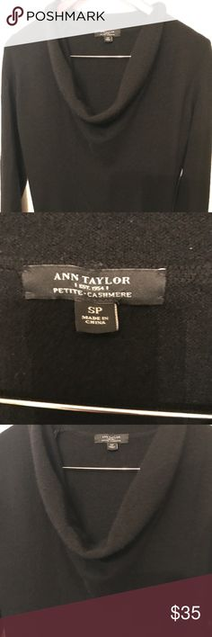W SP Beautiful black cashmere sweater excellent! Ann Taylor cashmere sweater in excellent condition. No rips tears or stains. Ann Taylor Sweaters Crew & Scoop Necks