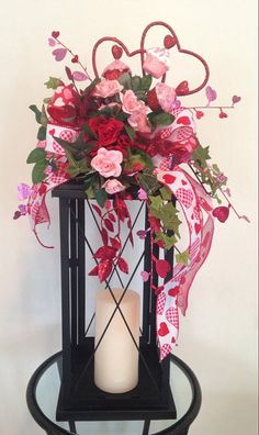 """CUPCAKE CUTIE"" - Decorative Valentine's Day Lantern Swag by DecorClassicFlorals, $39.95 on Etsy"