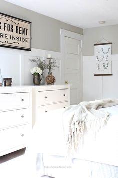 Incredible Master Bedroom Refresh – Rooms For Rent blog-Paint Color – Hazy Skies by Benjamin Moore The post Master Bedroom Refresh – Rooms For Rent blog-Paint Color – Hazy Skies by Benja… appea ..