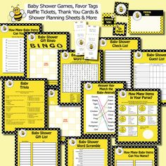 Bumble Bee Nursery Rhyme Quiz Baby Shower Game In Yellow