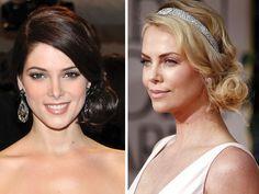 Otra opción es utilizar un chongo de lado para novia para un look de novia romántico./ peinado de novia