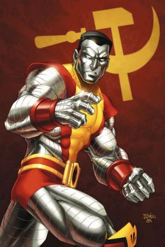 Piotr Rasputin is a Russian mutant who possesses the ability to transform his body into organic steel, giving him immense strength and durability. Colossus is among the physically strongest X-Men, and is a talented artist. Ms Marvel, Marvel Comics Art, Marvel Comic Books, Comic Book Characters, Comic Book Heroes, Marvel Heroes, Marvel Characters, Comic Character, Comic Books Art