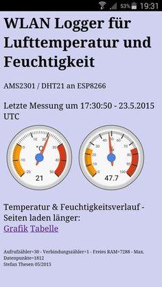 WLAN Lufttemperatur und -feuchte Logger mit grafischer Darstellung für ESP8266 - Bastel & Reparatur Blog