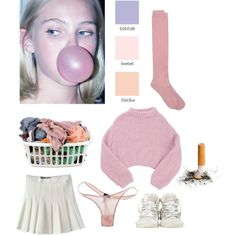 """""""bubble gum baby"""" by houseofwolff on Polyvore"""