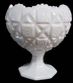 Love vintage milk glass - quilt pattern or hobnail.