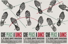 Art Chantry Give Peace a Dance, A 24-Hour Dance Marathon 1985