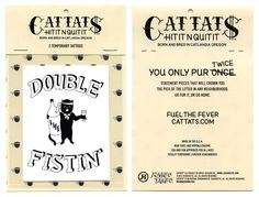Cattats Double Fistin Temporary Cat themed Tattoos I Cat tats Cattats.com