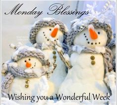 We just want to wish you a happy Monday!