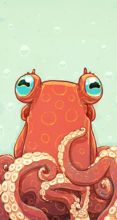 Goldie the Octopus Best Picture For Sealife Drawing illustration. Best Picture For Sealife Drawing Cute Octopus, Octopus Print, Octopus Eyes, Octopus Octopus, Art And Illustration, Animal Drawings, Art Drawings, Octopus Drawing, Octopus Painting