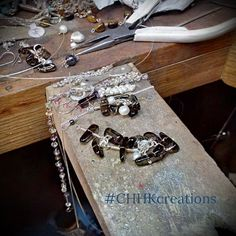 Working on new pieces for the Spring One of a Kind Show. #silver wire, #pearls and smoky #quartz almost ready.