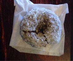 Coconut vanilla Yums | Yelp #vegan #vegandonut #seattle #organic #organicdonut #nonGMO