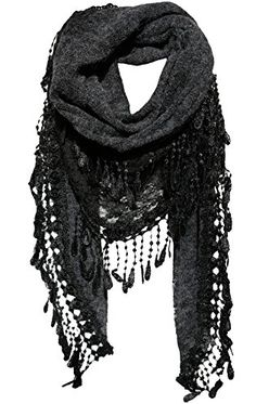 black lace triangle scarf <3