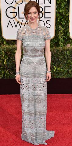 Golden Globes 2015: Red Carpet Arrivals - Ellie Kemper from #InStyle
