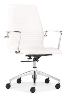Zuo Modern Lion Low Back Office Chair Lion Low Back Office Chair White Furniture Seating Office Chairs