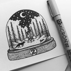 WEBSTA @ kimbeckerdesign - • D E C E M B E R •Second day of my snow globe project. I'm going to sell the originals this time, so if you're interested leave me a DM ✉️ First come, first served 2 - 'Bonfire'