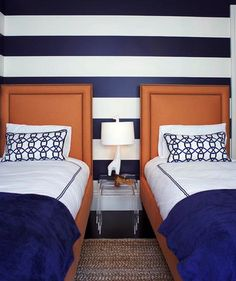I kind of want navy stripes for boys' room.