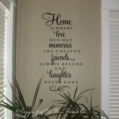 Vinyl Wall Decal - Home is where love resides.... $34.00, via Etsy.