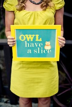 clever owl party sign