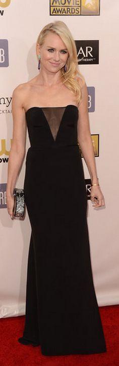 Critic's Choice Awards 2013:  Naomi Watts: Purse – Edie Parker    Dress – Emilio Pucci    Bracelet – Cartier