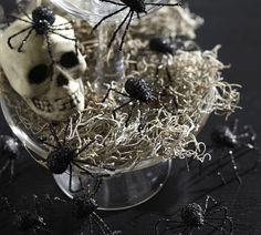 GLITTER SPIDER VASE FILLER