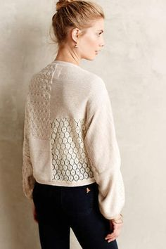 New$98 Anthropologie Patched Lace Shrug by Angel of the North Sz XS/S Top #Anthropologie #Cardigan