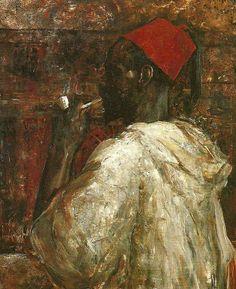 Ernst Josephson - Rökande Neger 1884