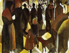 german-expressionists: August Macke, Leave-Taking, 1914