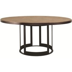 "Elements 54"" Round Wood Top Dining Table with Metal Base by Bernhardt - Baer's Furniture - Dining Room Table Miami, Ft. Lauderdale, Orlando, Sarasota, Naples, Ft. Myers, Florida"